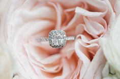 Wedding ring in bouquet by Nicole Chatham Photography via www.nicolechathamphoto.com