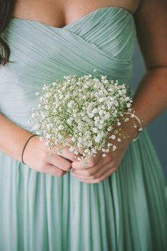 A baby's breath bridesmaid bouquet | Brides.com