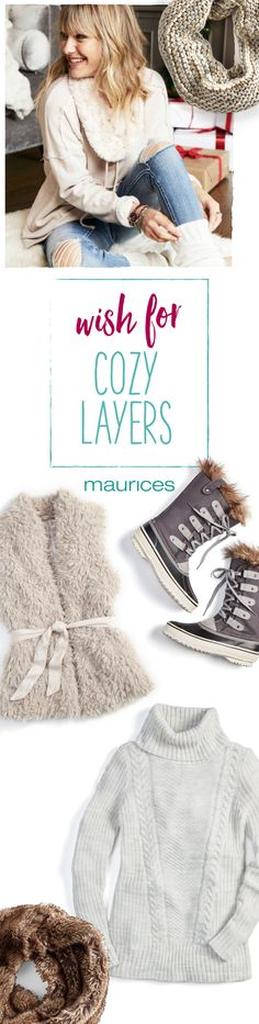 Comfy and cozy is one click away when you shop the wish list on maurices.com today. Plus, get free shipping all the way to your front door or favorite store (no minimum).