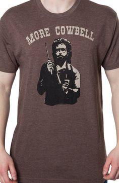 More Cowbell T-Shirt: 80s TV Saturday Night Live T-shirt