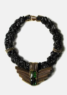 Nightingale Zipper Necklace by ReborneJewelry on Etsy