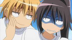 Usui Takumi is whispering something into Ayuzawa Misaki's ear. let's lean in closer to hear!