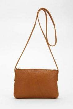 BAGGU X UO Leather Crossbody Bag