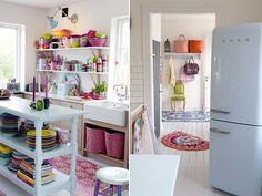 Para mí sería muy complicado vivir en esta casa, no por la casa en si, sino por la decoración tan colorida.Para el día a día soy de neutros y creo que eso jamás cambiará.Es verdad que es muy aleg…