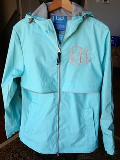 Monogrammed Rain Jacket | Monogram New Englander Rain Jacket | Monogrammed Sweatshirt | Monogram Apparel | Monogram Sweatshirt | Personalized Gifts Lexington Kentucky
