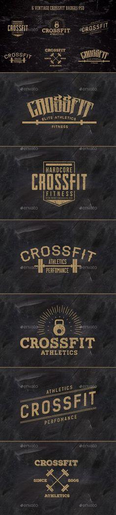 6 Vintage CrossFit Badges | #badges #vintagebadges | Download: http://graphicriver.net/item/6-vintage-crossfit-badges-/10408842?ref=ksioks
