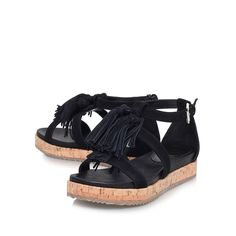 a3cbbec99b8 meadow black flat sandals from KG Kurt Geiger Black Heels Low