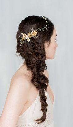Gold Floral Hair Vine