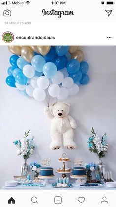 Baby Shower Balloons – An Easy & Cost Effective Way To Creat.-Baby Shower Balloons – An Easy & Cost Effective Way To Create A Fabulous Baby Shower Baby shower balloons are amazing decorations for a girl, boy, and neutral showers. Baby Shower Wall Decor, Deco Baby Shower, Shower Bebe, Baby Shower Balloons, Girl Shower, Baby Boy Shower Decorations, Baby Shower Boys, Boy Baby Showers, Elephant Decorations