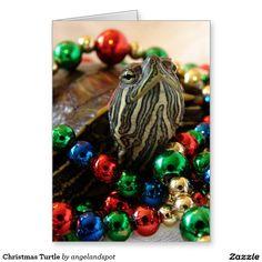 Christmas Turtle Greeting Card