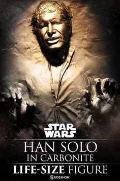Sideshow Collectibles nos presenta una gigantesca figura a escala real de Han Solo  en carbonita basado tal y como lo podemos ver en la pel...