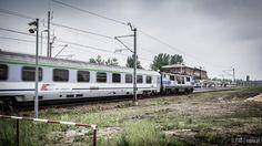 Pociąg InterCity w Dąbrowie Górniczej