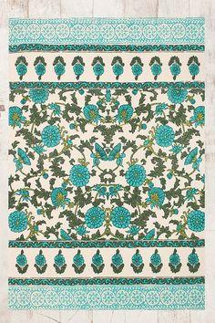 Teppich mit blauem Blumenmuster, 4 x 6 Fuß, 75