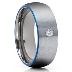 White Diamond Tungsten Ring | White Diamond Ring | White Diamond Band – Page 5 – Clean Casting Jewelry Engraving Fonts, Tungsten Wedding Rings, White Diamond Ring, Tool Steel, Blue Rings, Beautiful Rings, Gold, Jewelry, Ring