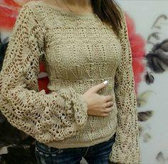 Graficos y Crochet: Blusa bge