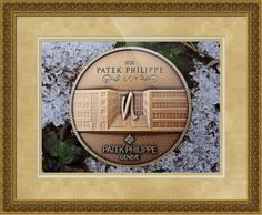 """Patek Philippe Geneve commemorative medal coin framed print in Classical Baroque configuration. Price starts at $177 (Petite 21.5"""" x 24.5""""). http://www.imagekind.com/Patek-Philippe-Geneve-PPG_art?IMID=250a3c3a-9ae1-45ee-b711-570bba7fbf97"""