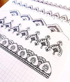 """EASY DRAW🌙 SENYA on Instagram: """"Lovely practice💖"""" Tangle Doodle, Tangle Art, Doodle Art, Doodle Patterns, Zentangle Patterns, Zentangles, Mandala Drawing, Mandala Art, Mandala Pattern"""