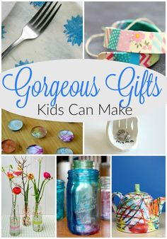 45 Gorgeous gifts kids can make! These homemade gift ideas for kids to create are fabulous. Simple, cool, and beautiful! Perfect for Christmas and the holiday season.