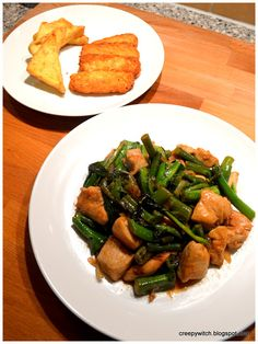 Somewhere A Clock is Ticking: Newbie Cook #3 : Stir Fry Chicken & Kai Lan