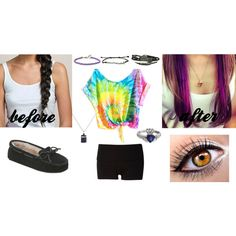 In 24 hours my hair will look like this! by bsalvinski6364 on Polyvore featuring beauty, Hershesons, Forever 21, Minnetonka, Disney and purplehair
