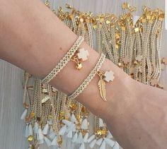 Fashion Jewelry Necklaces, Handmade Necklaces, Jewelery, Jewelry Accessories, Baptism Party Girls, Bracelet Crafts, Bracelets, Boho Diy, Diy Earrings