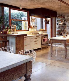 mesa de campo con tapa de marmol