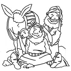 the good samaritan coloring page - the good samaritan colouring bible jesus and his