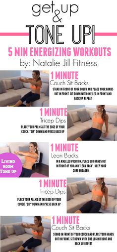 FIVE MINUTES, I know you have 5 minutes. Today's fun five minute workout is all based around your couch in your living room. We are working arms and core here so don't give up and give it your all!