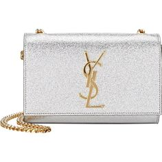 Saint Laurent Monogramme Crossbody ($1,790) ❤ liked on Polyvore featuring bags, handbags, shoulder bags, silver, cross body purse, white crossbody, white purse, crossbody purse and crossbody handbags