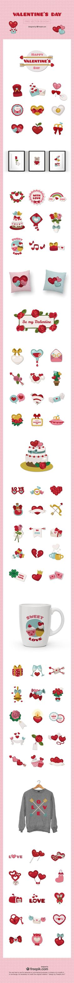 Free Download : A Huge Set Of Valentine's Day Vector Elements (exclusive)