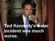 Ted Kennedy's water incident was insignificant compared to Marco Rubio have a sip during his speech #Chappaquiddick