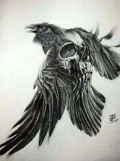 Vikings tv show tee shirts -Liberal Tree Viking – Norse Tattoo Skull Tattoos, Body Art Tattoos, New Tattoos, Sleeve Tattoos, Cool Tattoos, Phoenix Tattoos, Tattoo Crane, Arm Tattoo, Deer Tattoo