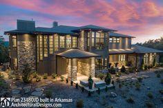 Contemporary House Plans, Modern House Plans, Cabana, Piscina Interior, Prairie House, Modern Mansion, Outdoor Living Areas, Big Houses, Big Modern Houses