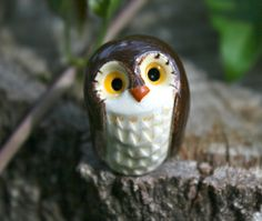 Amos the Brown Clay Owl: