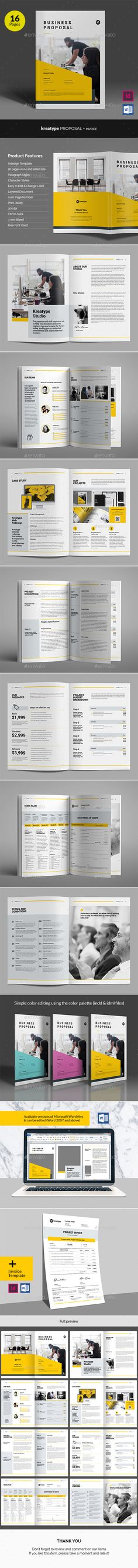 Kreatype Business Proposal v05 by heriwibowo  Kreatype Business Proposal v.05 The Business Proposal, clean and creative template. This layout is suitable for any project purpo