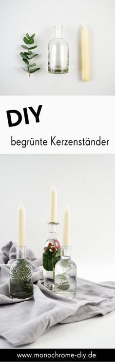 Begrünte Kerzenständer selber machen