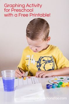 Spin and Graph Game with Free Blank Printable! You can put anything you want on the graph. From Moms Have Questions Too