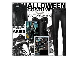 """Halloween Costume Horoscope: Aries"" by fashionbrownies ❤ liked on Polyvore featuring René Caovilla, Ender Legard Corsetry, Yves Saint Laurent, Majesty Black and Assya London"