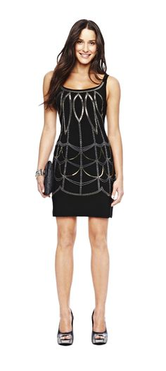 trend: art deco – bisou bisou by @Michele Bohbot  embroidered tank dress