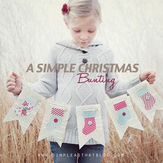 simple as that: Stockings Were Hung: A Simple Christmas Bunting