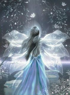 Cute Blue Fairy, Snow Fairy, Winter Fairy, Pixies, Fantasy Fairies, Angels And Fairies, Fantasy Girl, Faeries, Angles