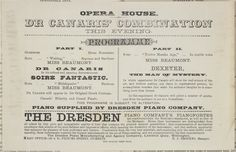 Opera House :Dr Canaris' Combination this evening. New Zealand Times print House Dr, Overture, New Zealand, Opera House, Tourism, Advertising, Songs, Times, Canary Birds