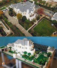 LEGO Grand Villa | by acgshow(G.S) Lego Mansion, Lego Furniture, Minecraft Furniture, Lego Factory, Lego Super Mario, Lego Creative, Brick Art, Lego Display, Lego Army
