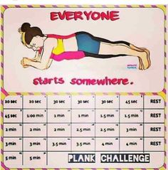 Planking Challenge,  works core muscles.