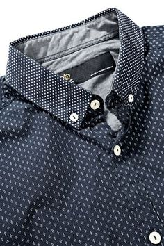 Buy Blue Smart Print Shirt from the Next UK online shop