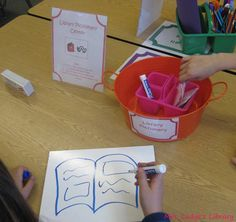 Library Pictionary Center from Mrs. Lodge's Library!