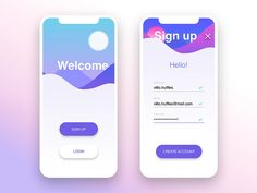 Daily UI #001 • Sign Up by Vittorio Truffarelli on Dribbble
