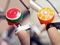 Hand painted fruit bike bells l #adorable