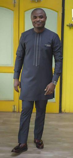 African Dresses Men, African Attire For Men, African Wear, Latest African Men Fashion, Kaftan Men, Man Dressing Style, Custom Made Shirts, Groom Dress, Classic Outfits