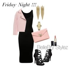 """Friday Night"" by ateirrahbrynae on Polyvore featuring Dion Lee, Kenneth Jay Lane, Michael Kors and L'Oréal Paris"